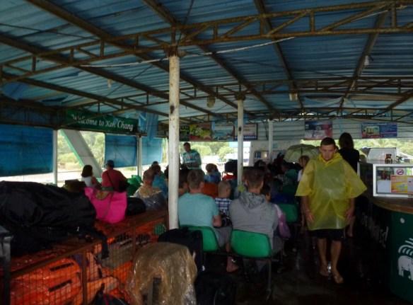Koh Chang Ferry Back The rain ponchos are out
