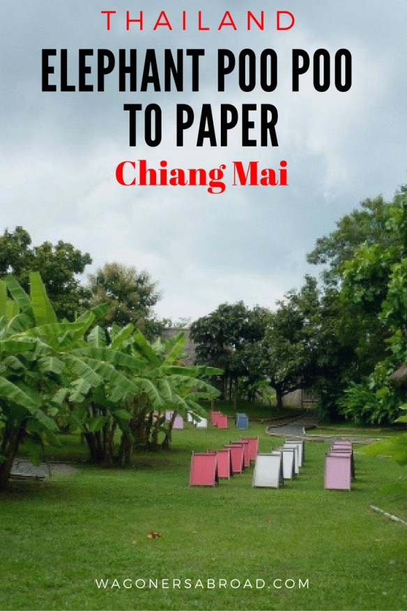 From elephant poo poo to paper, experience the process. Did you know you can make paper from Elephant Poo Poo? Well you can! If you are in Chiang Mai with kids at Elephant Poo Poo Paper Park. Read more on WagonersAbroad.com