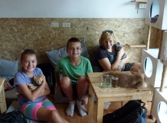 Sabrina, Anya and Lars Cat Cafe Chiang Mai