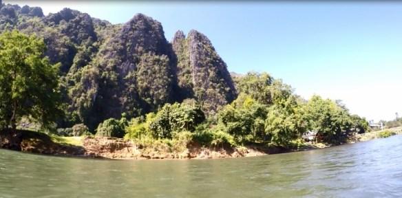 Limestone Mountains Vang Vieng