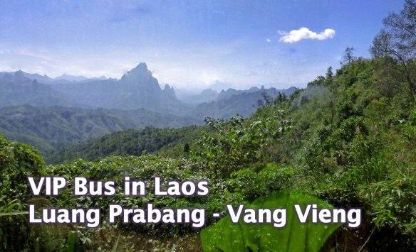 Traveling on the VIP Bus from Luang Prabang to Vang Vieng Laos, what is it like? Gorgeous scenery, fast service and a video to share it all, even landslides! Read more on WagonersAbroad.com