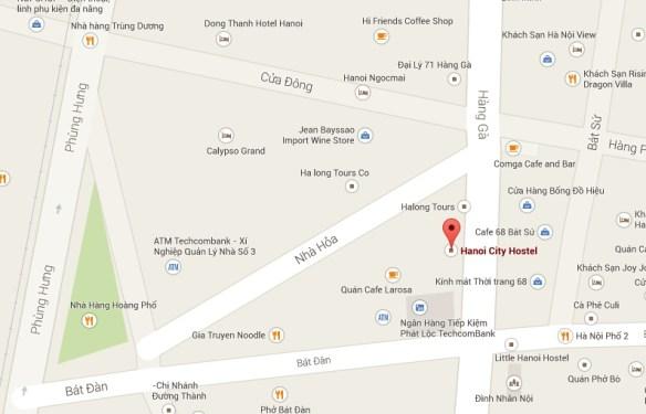 Hanoi City Hostel Location
