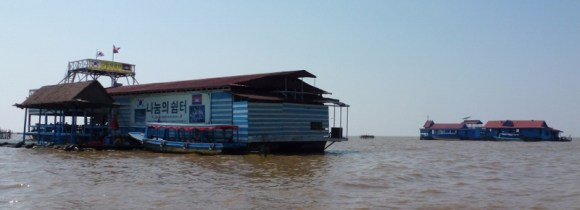 Village on the lake