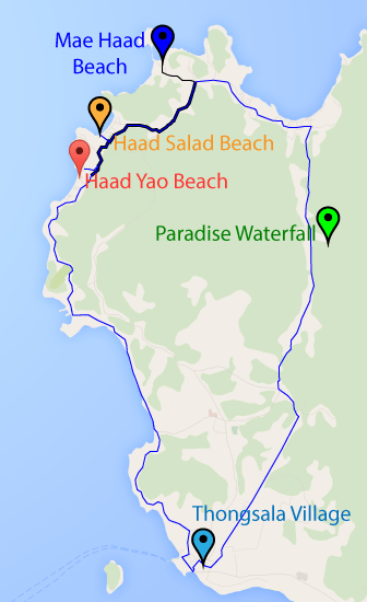 Koh-Phangan-Map-Entire-Route