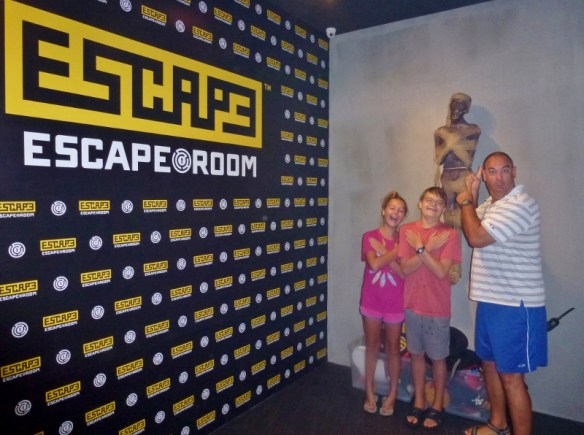Escape Room Penang Malaysia feeling confident we could solve the mummy mission