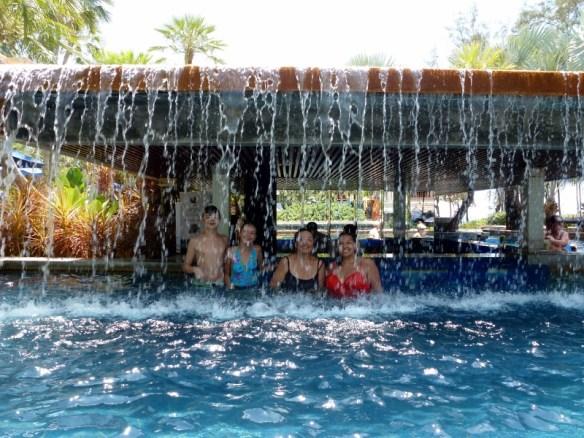 Swim up bar at Marriott's Phuket Beach Club = Thailand