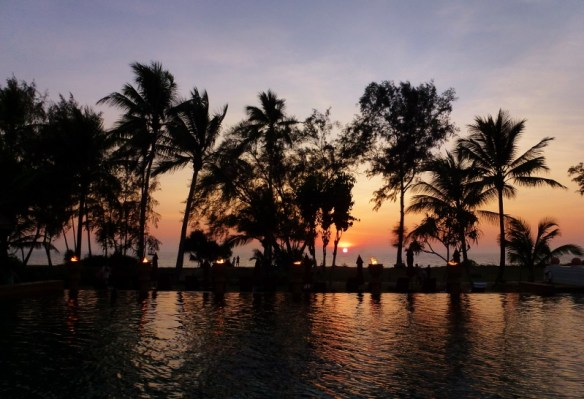 Amazing Sunsets on Phuket Thailand Mai Khao Beach Feb 2015
