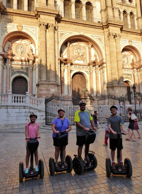 An amazing Segway tour along the Malaga Port, through the historic center, up to the castle and beyond. 2 + hours of fun at sunset with Segway Malaga Experience. Read more on WagonersAbroad.com Segway-Malaga-Experience-Spain-Catedral-de-la-Encarnación-de-Málaga