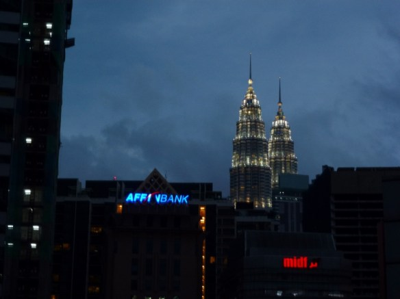 View from our apartment at A BEST Seri Bukit Ceylon Serviced Residence - Petronas Twin Towers Kuala Lumpur