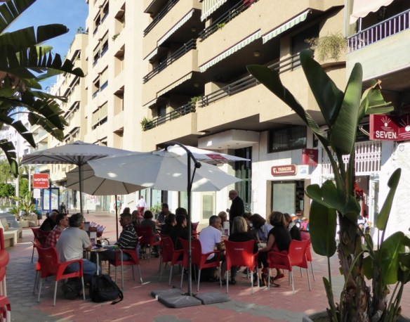 TCLanguages Coffee Break On the Paseo in Almunecar - Costa Tropical Spain