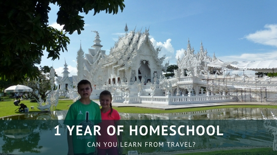 1 year of homeschool - Can you learn from travel? We share all of our tips and tools with you to help you with your homeschool or worldschool journey. Read more on WagonersAbroad.com