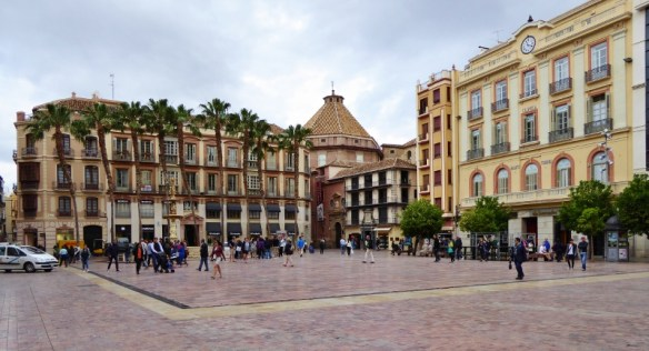 Devour Malaga Food Tour Plaza Constitución - meeting point and full of history.