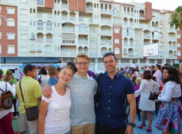 La Noria class of 2016 Anya, Lars and Pepe (a great teacher who provided a wonderful education in spain)