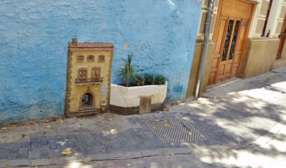 Little cat houses around Valencia Spain