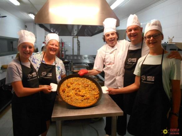 Paella cooking class Valencia Spain