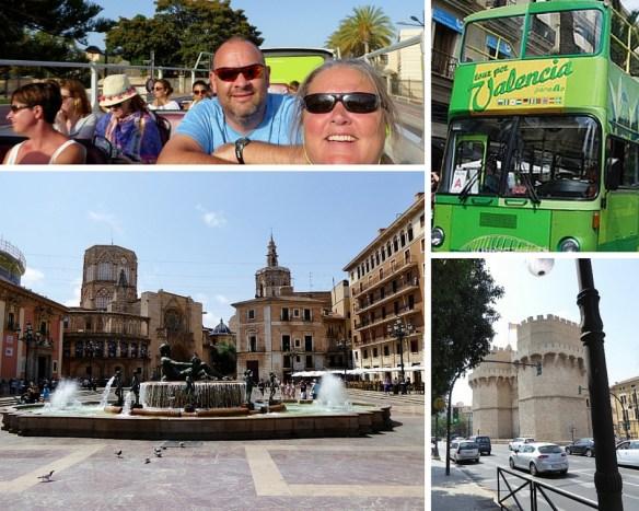 Valencia hop on hop off bus tour collage