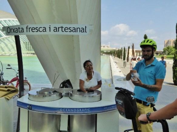 horchata vendor City of Arts and Sciences Valencia Spain