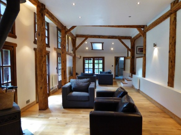 Morzine House sit second floor living area and windows