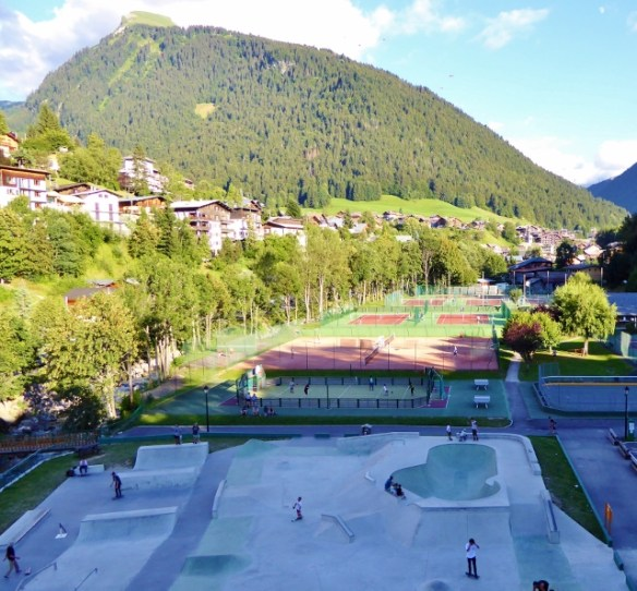 Morzine Sports Center Outdoor skate park, basketball, tennis and more. summer