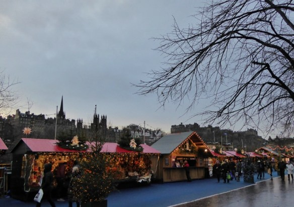 Edinburgh Scotland Christmas Markets Princes Street