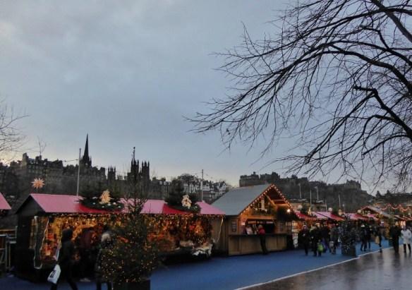 Edinburgh Scotland Christmas Markets Princes Street