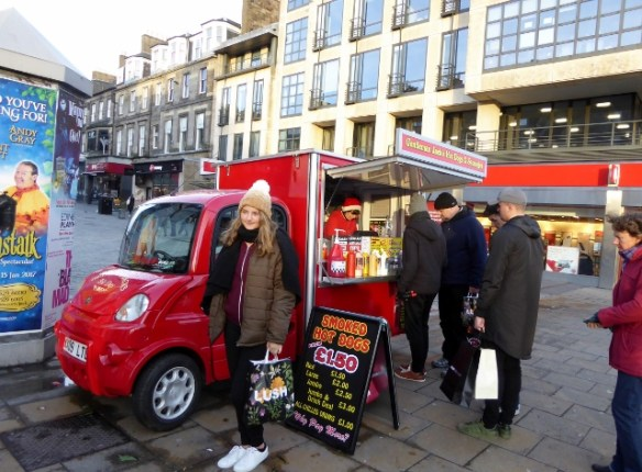 Edinburgh Hot dog stand on Princes Street
