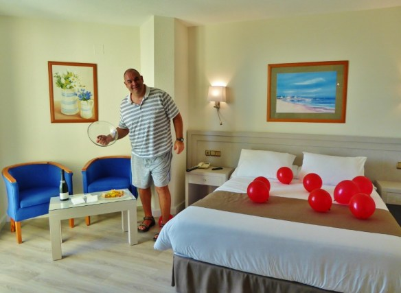 20th anniversary Hotel Helios beachfront suite