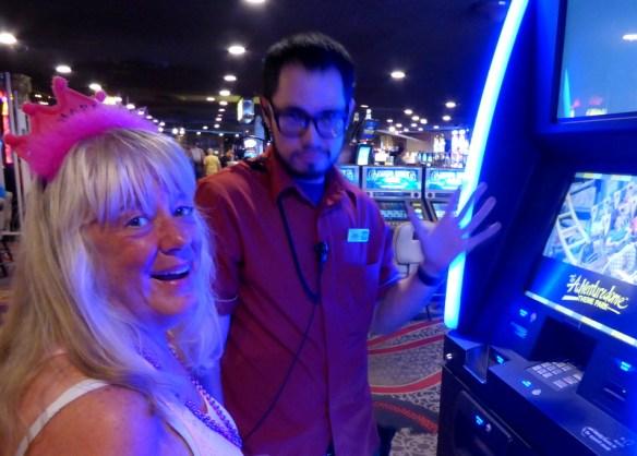 Gma Bev 75 Bday Utah summer 2017 - Free Slot lessons at Circus Circus Las Vegas