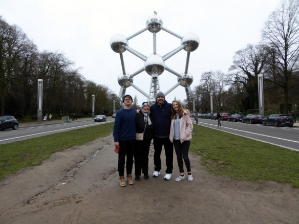 Visit the Atomium is a landmark building in Brussels, originally constructed for the 1958 Brussels World's Fair. It is located on the Heysel Plateau, where the exhibition took place. It is now a museum, but the appearance of the Atomium is unusual and unforgettable.