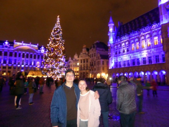 If you want an amazing backdrop for Christmas, we highly recommend you visit Brussels for the holidays.  We arrived in Brussels on the 30th of December, planning to bring in the new year with big fireworks and have a little down time for some city exploring.  Little did we know, we were still going to get the full benefit of Christmas!  It was Christmas everywhere and we were right in the heart of it for 5 nights.  It was the Brussels Winter Wonders and it runs the full month of December and the first week of January.