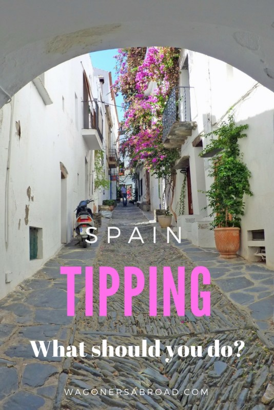 Do you tip in Spain? We share the local info about Tipping in Spain. From big cities to small towns, this is a Spain tipping guide by locals. Read more on WagonersAbroad.com