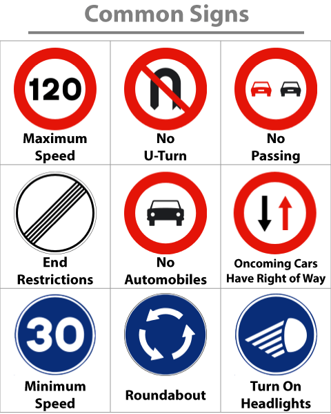Spanish-Road-Signs-Common-Signs