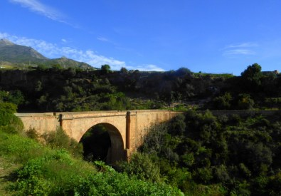 Spanish Civil War Walking across the old Roman Bridge in Maro.  Knowing this was the exact path of the La Desbandá (The massacre of the road from Malaga to Almería,1937).