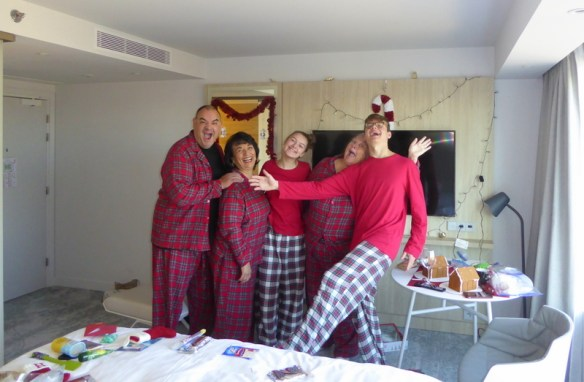 Christmas jammies in Paris