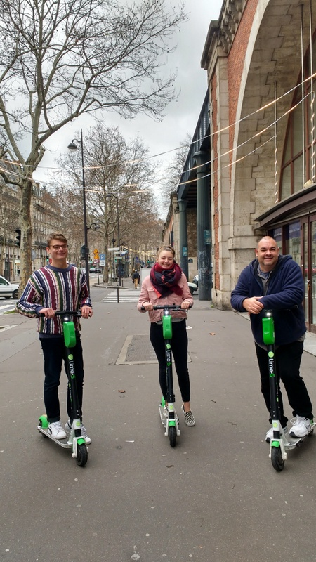 Exploring Paris on Lime Scooters