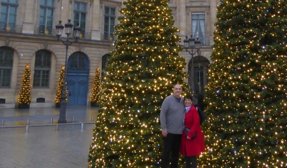 Place Vendôme Paris Christmas decorations and lights