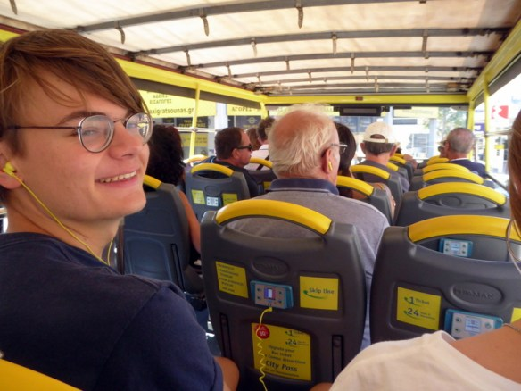 Lars on the Athens hop on hop off bus tour