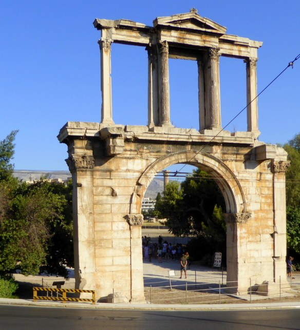 Hadrian's Arch Athens view from the hop on hop off bus tour