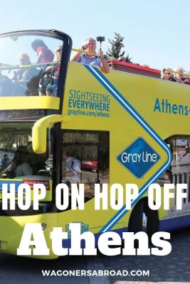 A great way to see all of the points of interest is using the hop on hop off Athens! This time we had the 3-day pass on Athens Open Tour! Read more on WagonersAbroad.com