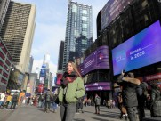 Anya and her Time's Square moment