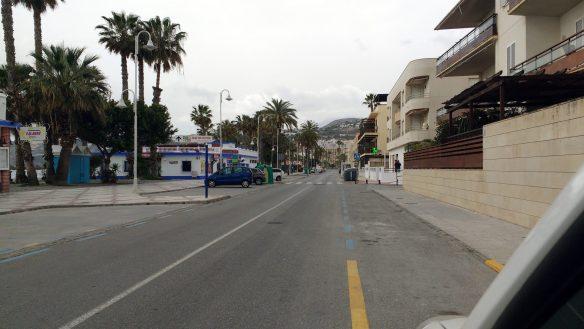 coronavirus empty streets of almunecar
