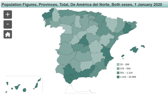 The population of North Americans in Spain as of January 2020, read more on WagonersAbroad.com