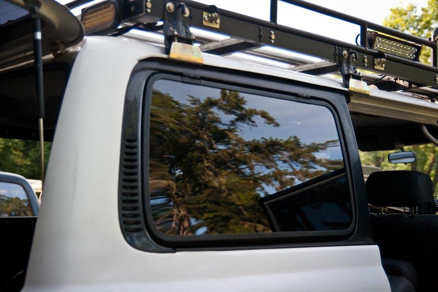 Flip Up Hatch Window