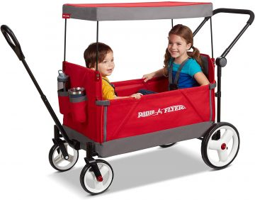 folding wagon stroller with canopy