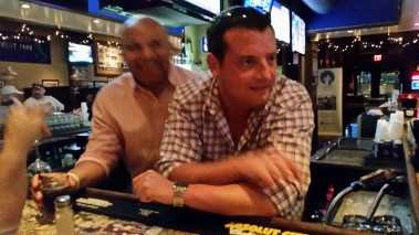 Andre Knott (WTAM 1100) and Joe Lull (92.3 FM) at the W.A.G.S. 4 Kids Celebrity Tweet Up!