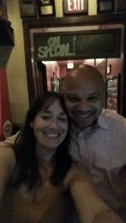 Andre Knott (WTAM 1100) and Sera Nelson at the W.A.G.S. 4 Kids Celebrity Tweet Up!