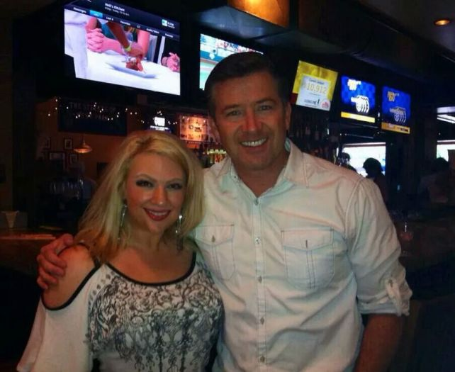 Gabe Spiegel (FOX 8) and Jaci Fox (NEW 102.1) at the W.A.G.S. 4 Kids Celebrity Tweet Up!