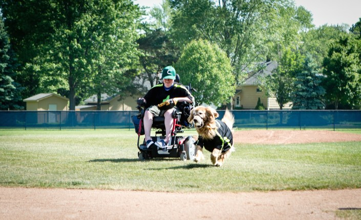 Kids Who Can! Jack and Tommy Wolf throw first pitch at the 1st Annual Grindstone Charity Classic