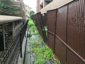 台風直後の被害状況