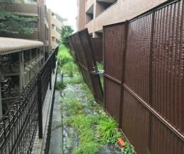 【台風21号被害の外構フェンスを復旧しました】